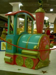 locomotive en résine