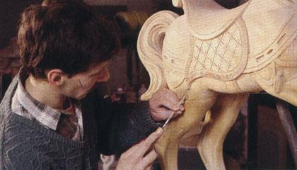 Naissance cheval de bois étape 5